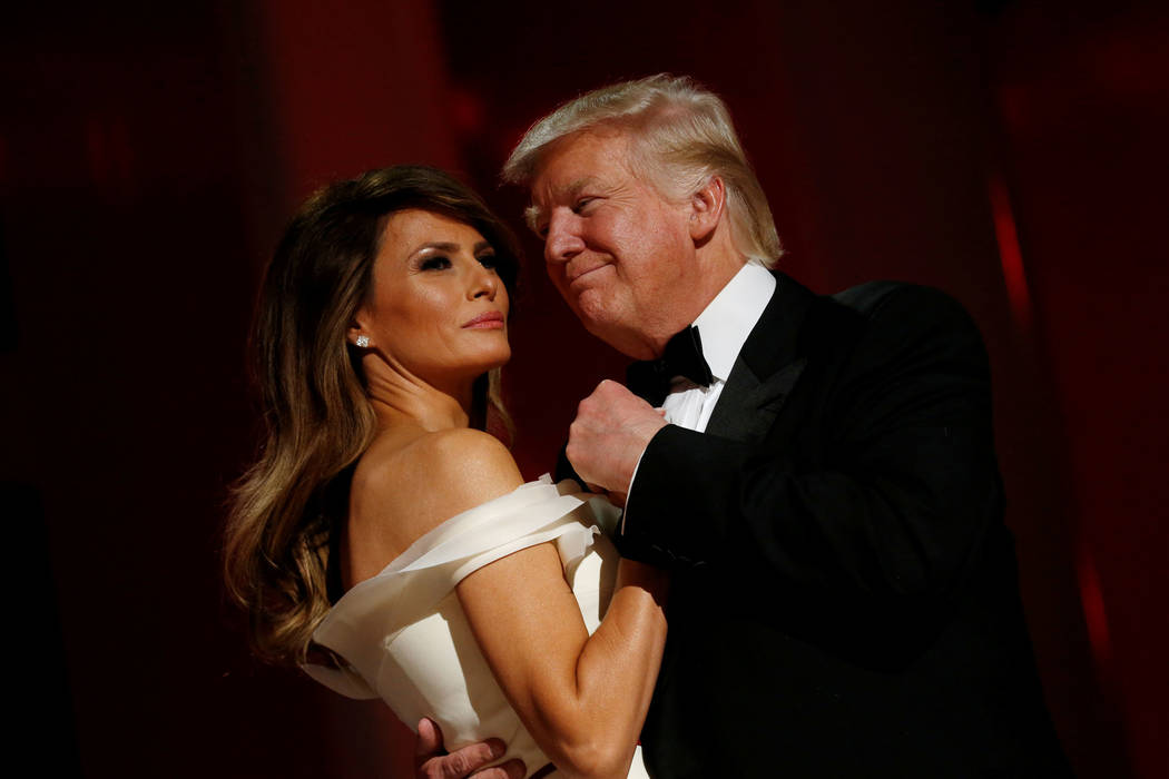 U.S. President Donald Trump and first lady Melania Trump attend the Liberty Ball in honour of his inauguration in Washington, U.S., January 20, 2017.REUTERS/Jonathan