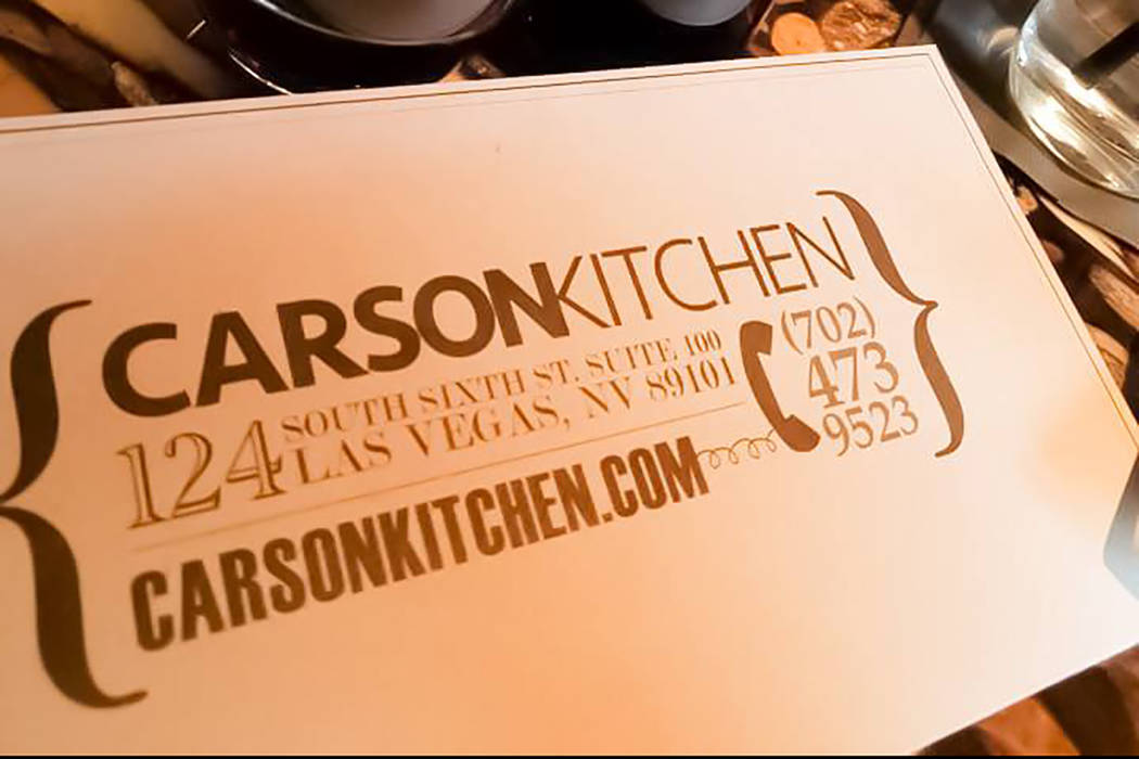 Carson Kitchen. Facebook