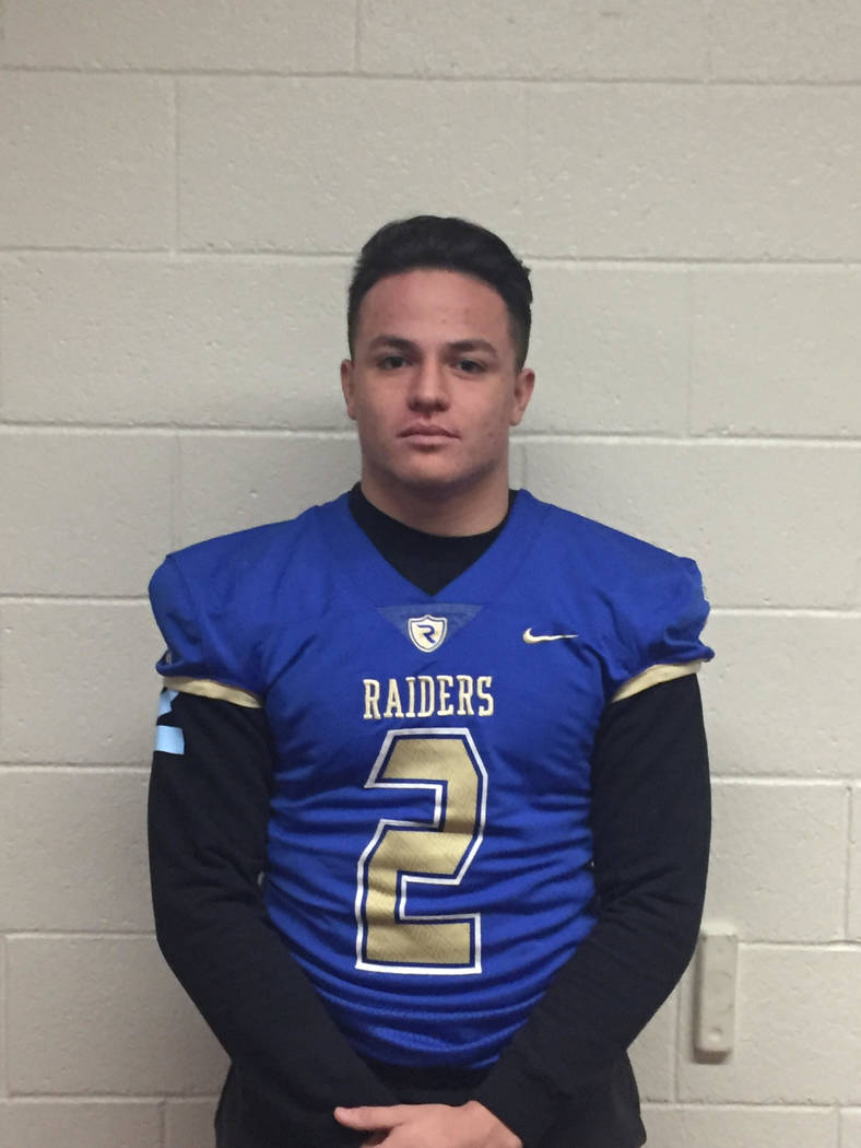 Reed's Eric Schmitz-Moran is a member of the Las Vegas Review-Journal's all-state football team.