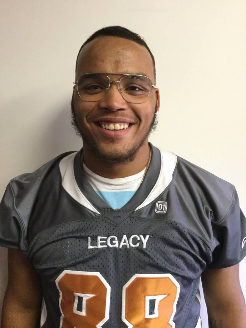 Legacy's Kenneth Holbert is a member of the Las Vegas Review-Journal's all-state football team.
