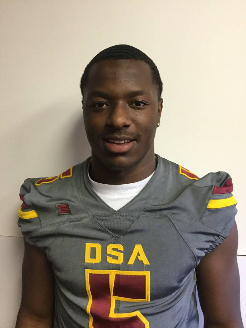 Del Sol's Taariq Flowers is a member of the Las Vegas Review-Journal's all-state football team.