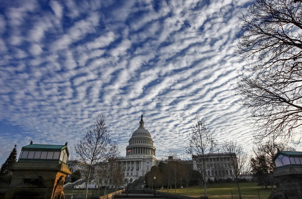 The Capitol is quiet as lawmakers finished legislative business for the year and passed a temporary spending bill to avoid a government shutdown, in Washington, Friday, Dec. 22, 2017. (AP Photo/J. ...