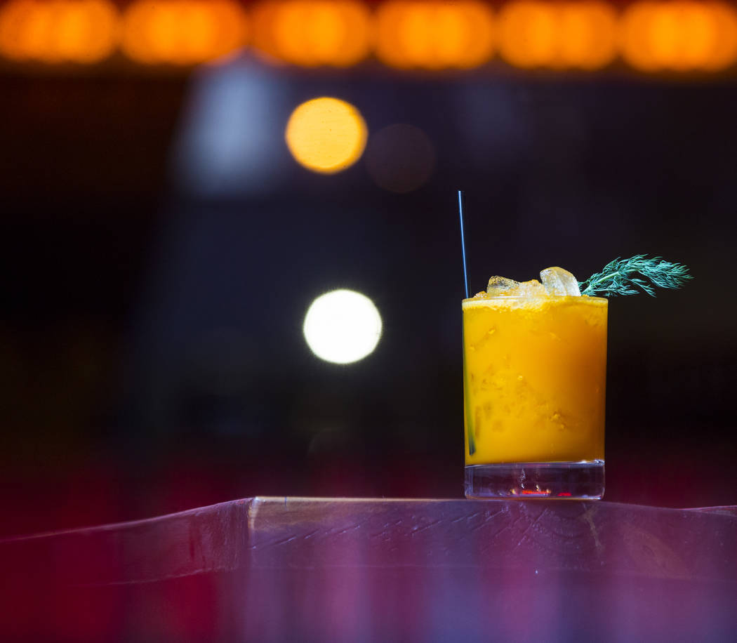The Canadian Rabbit in Scotland cocktail at Atomic Liquors in Las Vegas on Tuesday, Dec. 26, 2017. Chase Stevens Las Vegas Review-Journal @csstevensphoto