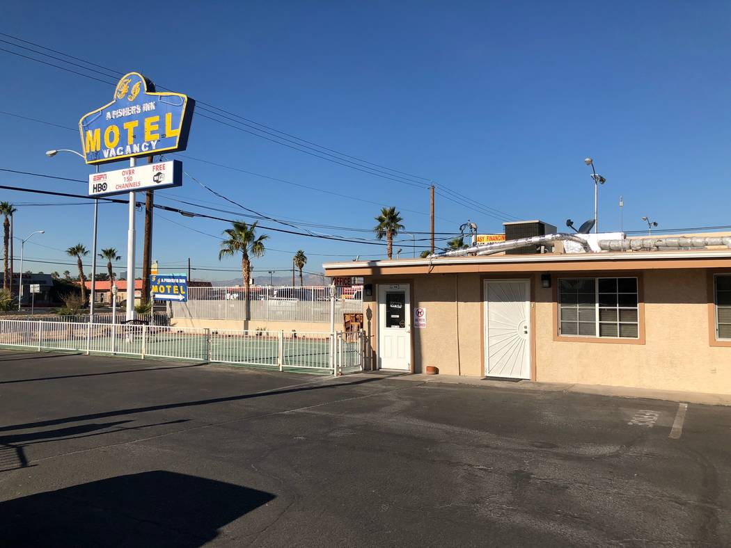 A Fisher's Inn is a one-story motel (Todd Prince/Review-Journal, Dec. 27, 2017)