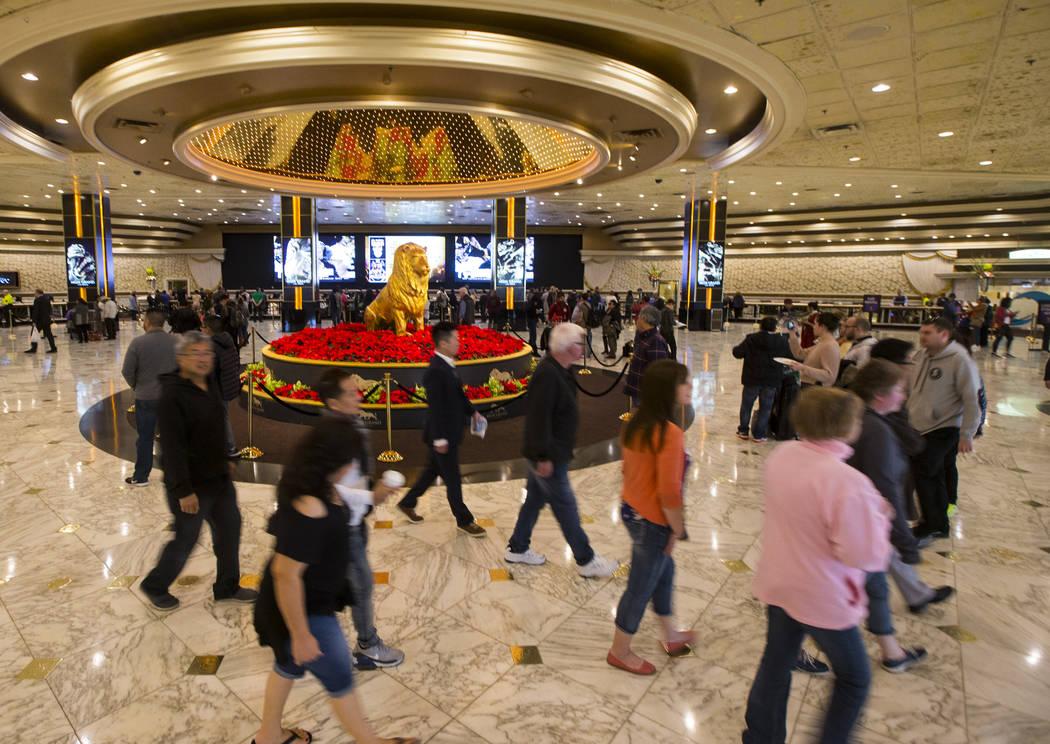 The lobby at MGM Grand in Las Vegas on Wednesday, Dec. 27, 2017. Chase Stevens Las Vegas Review-Journal @csstevensphoto