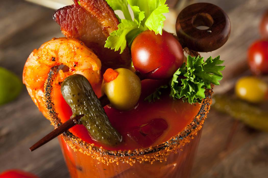 Homemade Bacon Spicy Vodka Bloody Mary. Thinkstock