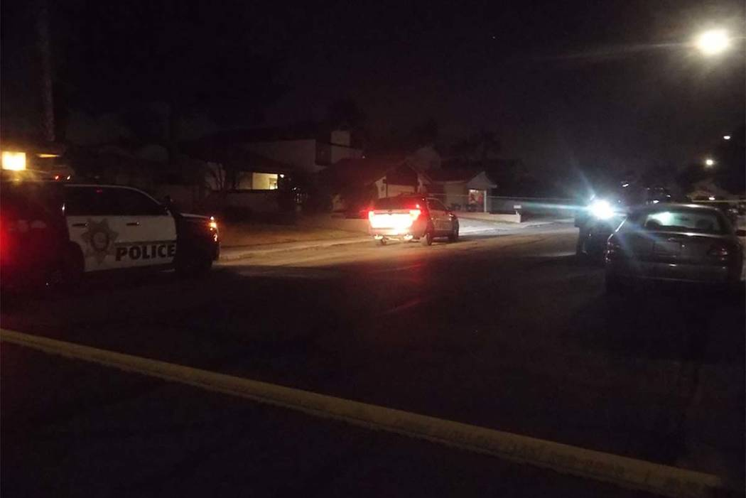 Police are investigating an incident that occurred early Wednesday morning at a house on Holbrook Street in the central valley. (Max Michor/Las Vegas Review-Journal)