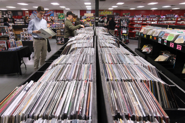 Zia Records carries a selection of vinyl LP's and 45's at their Eastern Avenue store Wednesday, April 8, 2015. (Sam Morris/Las Vegas Review-Journal) Follow Sam Morris on Twitter @sammorrisRJ