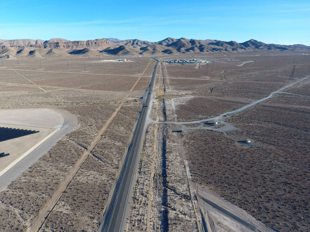 U.S. Route 93 in Nevada seen below on Thursday, Dec. 28, 2017 will soon have a new interchange at the intersection of Interstate 15 to improve safety and enhance mobility for the Apex Industrial P ...