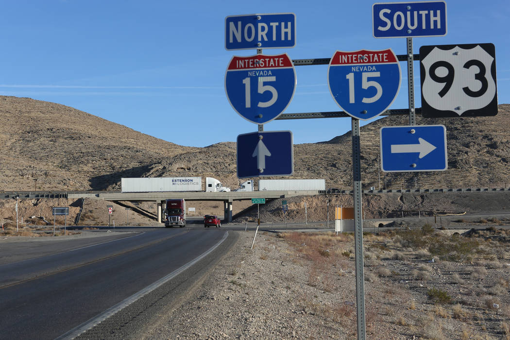 The intersection of Interstate 15 and U.S. Route 93 in Nevada is the proposed site of a new interchange to improve safety and enhance mobility for the Apex Industrial Park in North Las Vegas as se ...