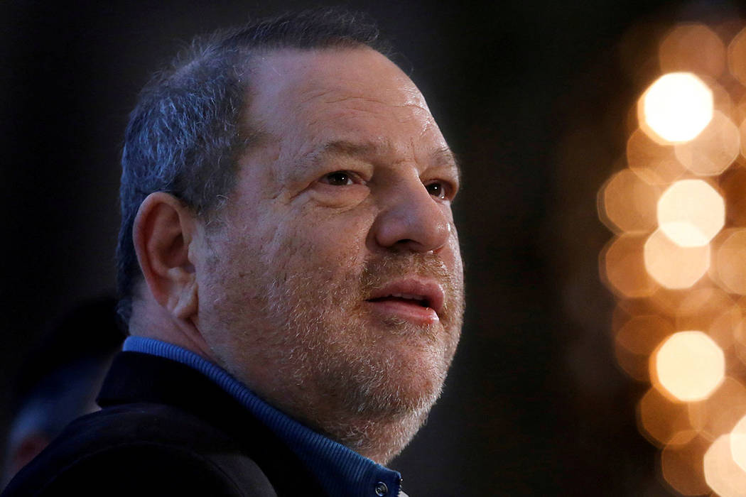 Harvey Weinstein speaks at the UBS 40th Annual Global Media and Communications Conference in New York in 2012. (REUTERS/Carlo Allegri)