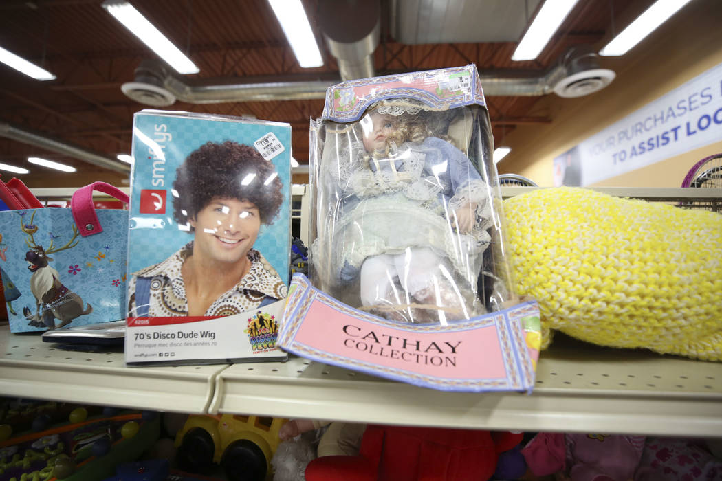 Toys for sale at the Goodwill store located at 1390 American Pacific Drive in Henderson on Thursday, Dec. 28, 2017. Richard Brian Las Vegas Review-Journal @vegasphotograph