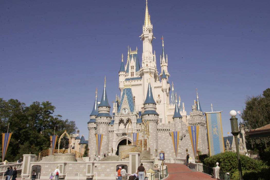 Cinderella's Castle at Walt Disney World's Magic Kingdom in Lake Buena Vista, Fla. is seen on Friday, Jan. 26,2006. (Reinhold Matay/AP)