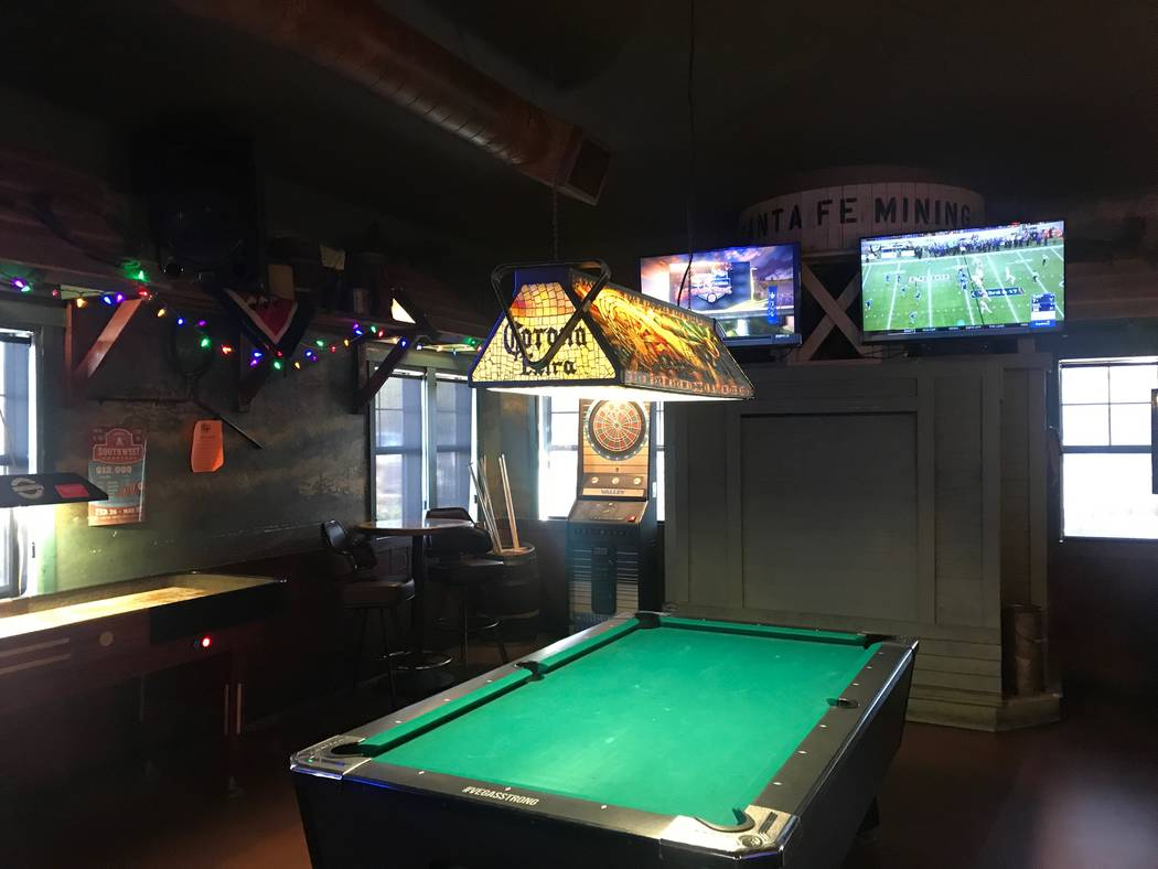 A pool table is displayed on Dec. 28, 2017 at Santa Fe Mining Company, 5021 N. Rainbow Blvd. (Kailyn Brown/View) @KailynHype