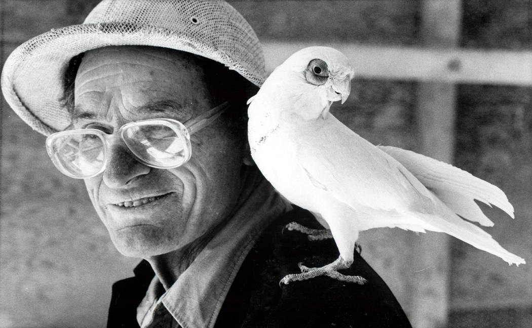 William Gilcrease, founder of the Gilcrease Nature Sanctuary, is shown on Jan. 5, 1982. (Las Vegas Review-Journal)