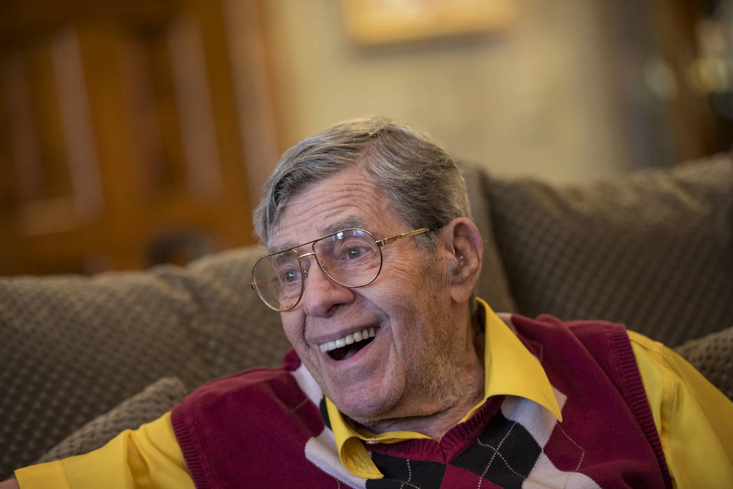 Jerry Lewis is interviewed in his home in Las Vegas on Friday, September 9, 2016. Joshua Dahl/Las Vegas Review-Journal