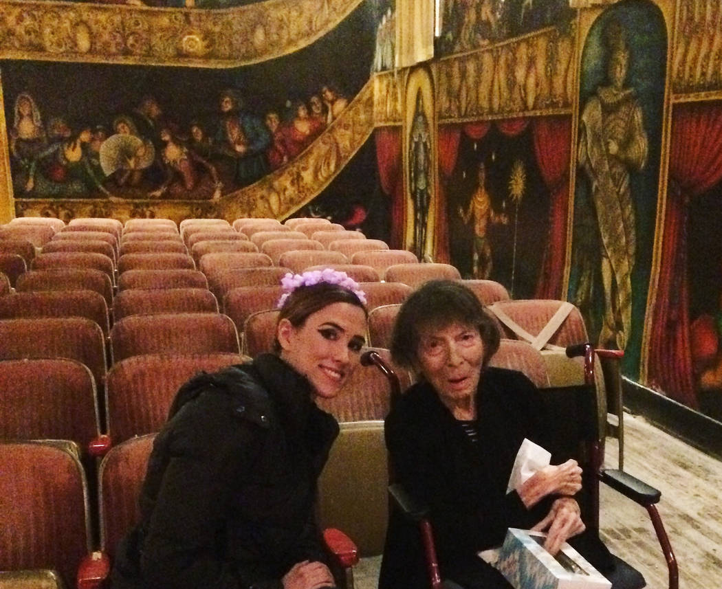 Photo courtesy of Hilda Vazquez This undated file photo shows Hilda Vazquez (left) and Marta Becket at the Amargosa Opera House. Since Becket's death last January, Vazquez has become a sort of c ...