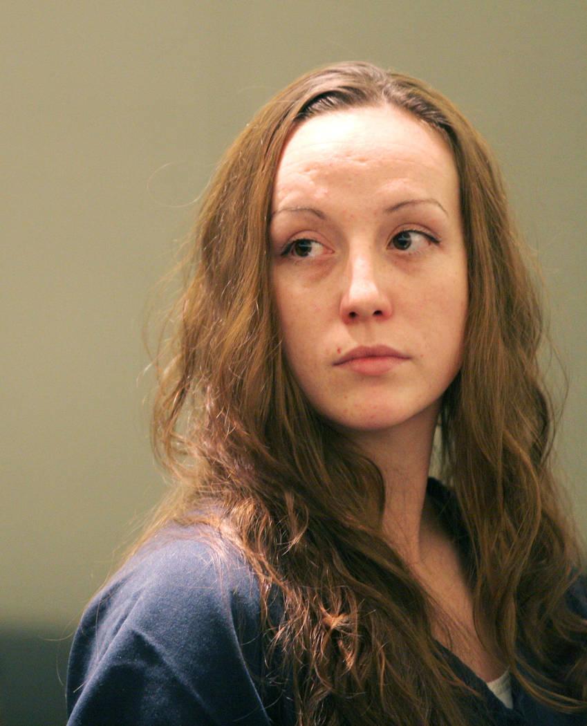 Convicted killer Kirstin Lobato makes an appearance in Clark County District Court in Las Vegas, Tuesday, Nov. 21, 2006, for a hearing in connection with the death and mutilation of a homeless man ...