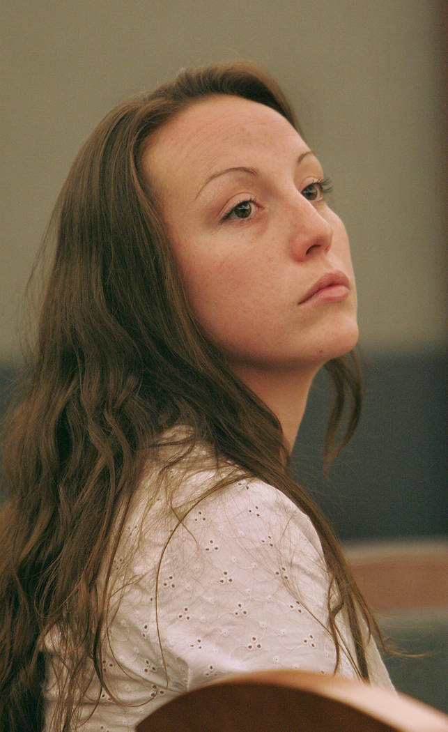 Convicted killer Kirsten Lobato appears in Clark County District Court in Las Vegas, May 19, 2006, for her retrial in connection with the alleged killing and mutilation of a homeless man. Lobato a ...
