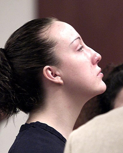 Kirstin Lobato, then 19, appears in court for sentenced Aug. 28, 2002. Lobato was sentenced to at least 40 years in prison for killing and sexually mutilating a homeless man. Las Vegas Review-Jour ...