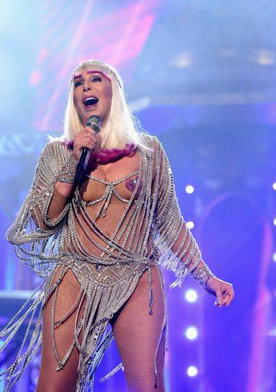 """Cher performs """"Believe"""" during The 2017 Billboard Music Awards at T-Mobile Arena on Sunday, May 21, 2017, in Las Vegas. (Kevin Mazur/Getty Images for ABC)"""