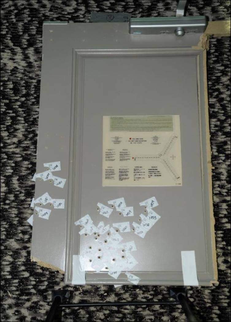 The door to Stephen Paddock's room. LVMPD.