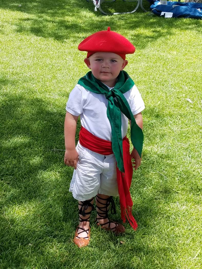 Two-year-old Calvin Phillips was in full Basque regalia at the National Basque Festival in Elko in July. (Heidi Knapp Rinella/Las Vegas Review-Journal)