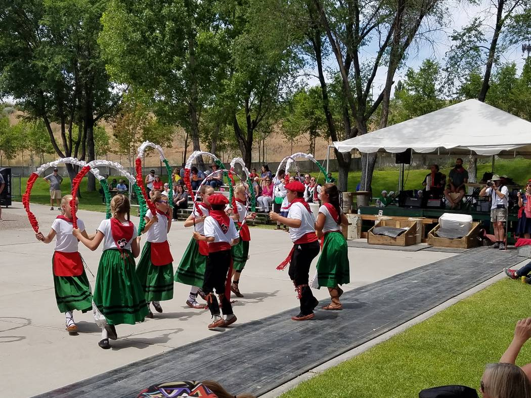 Basque Culture Leaves Its Mark On Nevada Las Vegas Review Journal Elko Current Relay Dancers At Festival In 2017 Frank Rinella