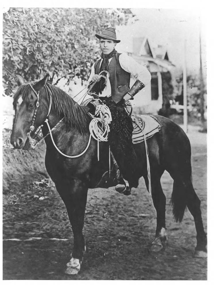 Dominique Laxalt on horseback (Jon Bilbao Basque Library, University of Nevada-Reno Libraries)