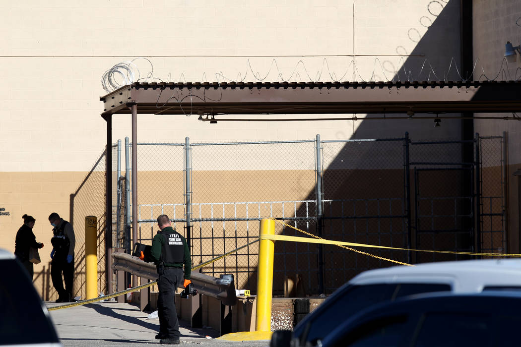 Las Vegas police investigate in the 2900 block of West Washington Avenue near Rancho Drive in Las Vegas Wednesday, Dec. 27, 2017. K.M. Cannon Las Vegas Review-Journal @KMCannonPhoto