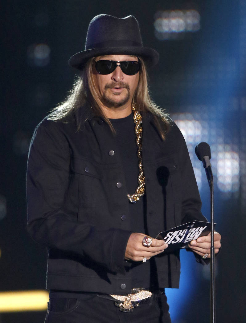 Kid Rock presents the award for video of the year at the CMT Music Awards at Music City Center on Wednesday, June 7, 2017, in Nashville, Tenn. (Photo by Wade Payne/Invision/AP)