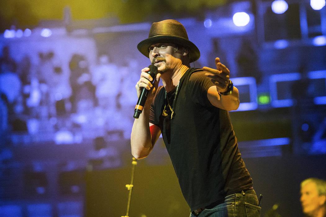 Kid Rock performs at Charlie Daniels 80th Birthday Volunteer Jam at Bridgestone Arena on Wednesday, Nov, 30, 2016, in Nashville, Tenn. (Photo by Amy Harris/Invision/AP)