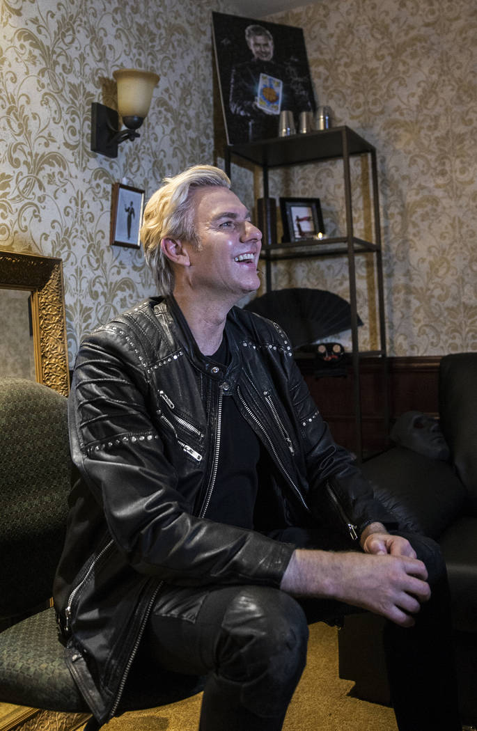 Magician Joe Labero in the dressing room before the start of a walk through for the new show Inferno on Thursday, January 18, 2018, at Paris hotel-casino, in Las Vegas. Benjamin Hager Las Vegas Re ...