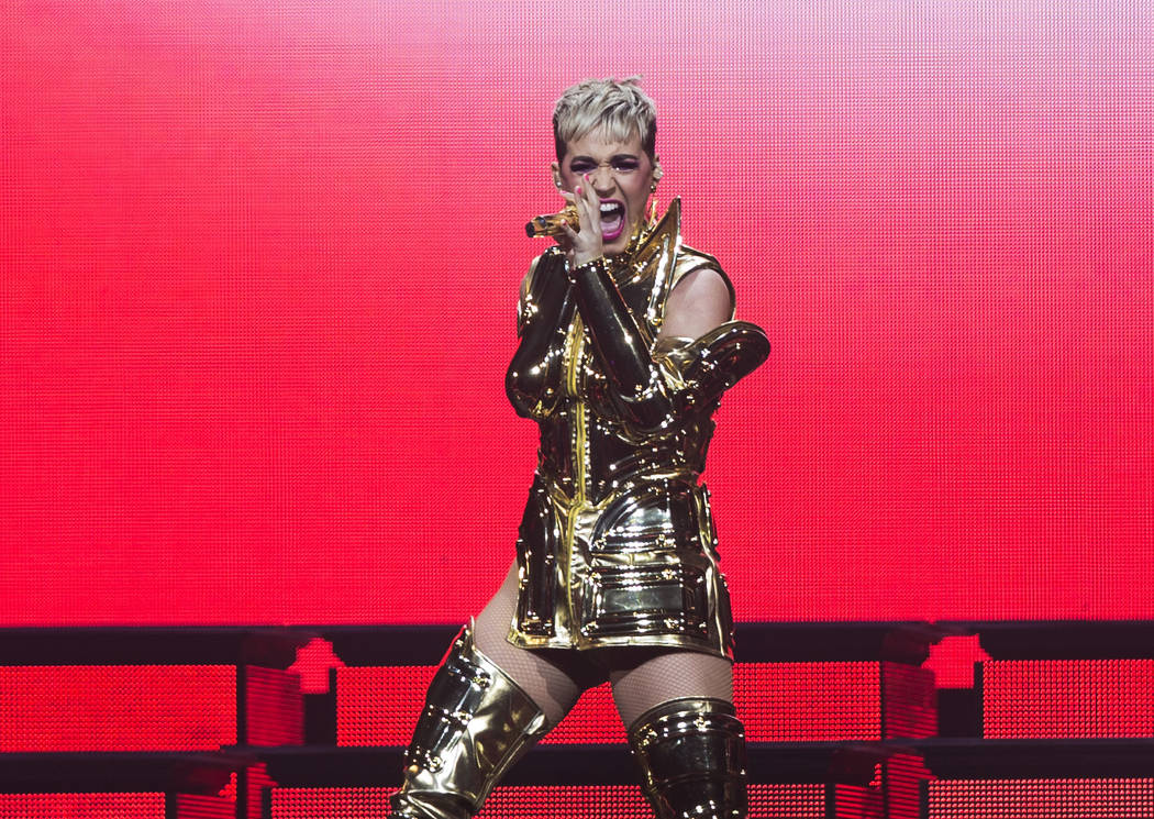 Katy Perry performs during her Witness Tour on Saturday, January 20, 2018, at T-Mobile Arena, in Las Vegas. Benjamin Hager Las Vegas Review-Journal @benjaminhphoto