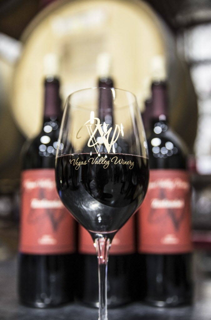 A glass of Vegas Valley Winery's Zinfandel on Saturday, January 20, 2018, in Las Vegas. Benjamin Hager Las Vegas Review-Journal @benjaminhphoto