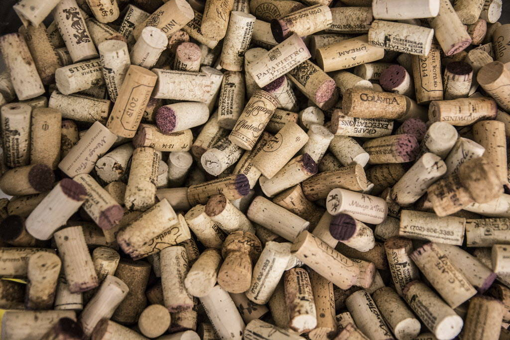 A barrel of corks in the entryway of Vegas Valley Winery on Saturday, January 20, 2018, in Las Vegas. Benjamin Hager Las Vegas Review-Journal @benjaminhphoto