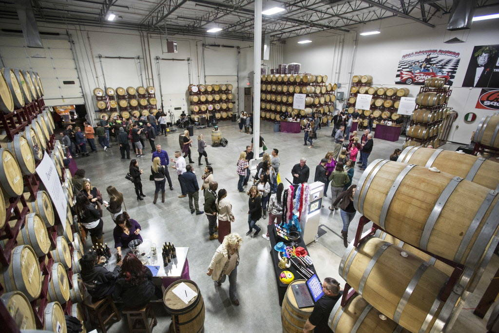 Vegas Valley Winery is packed for the grand opening of Las Vegas' first winery on Saturday, January 20, 2018, in Las Vegas. Benjamin Hager Las Vegas Review-Journal @benjaminhphoto
