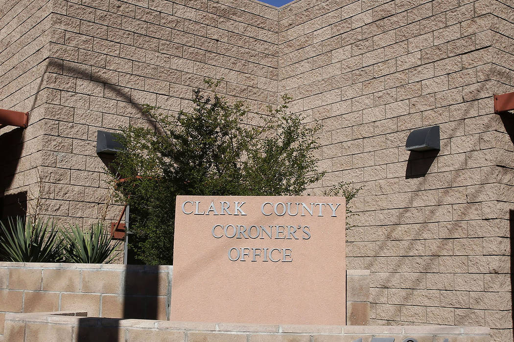 The Clark County Coroner and Medical Examiner (Bizuayehu Tesfaye Las Vegas Review-Journal @bizutesfaye)