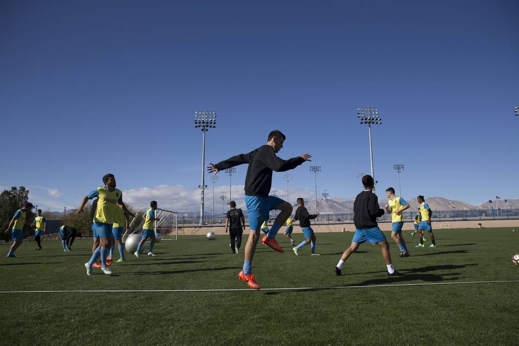 Las Vegas Light FC during a team practice at Kellogg Zaher Soccer Complex in Las Vegas, Thursday, Jan. 25, 2018. Erik Verduzco Las Vegas Review-Journal @Erik_Verduzco