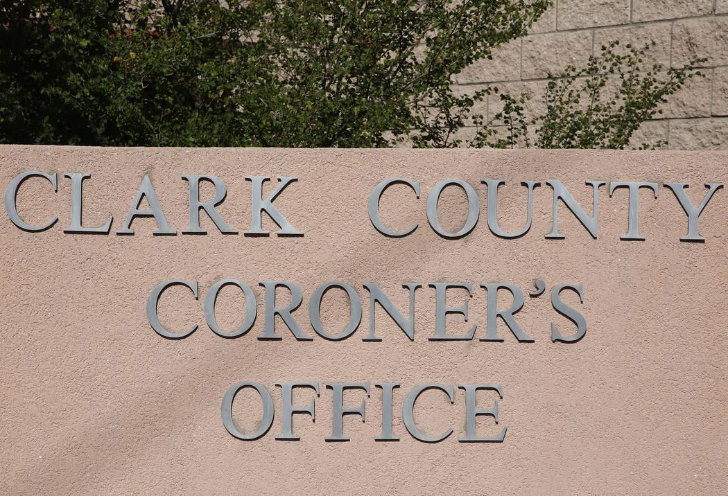 The Clark County Coroner and Medical Examiner office. (Bizuayehu Tesfaye/Las Vegas Review-Journal @bizutesfaye)