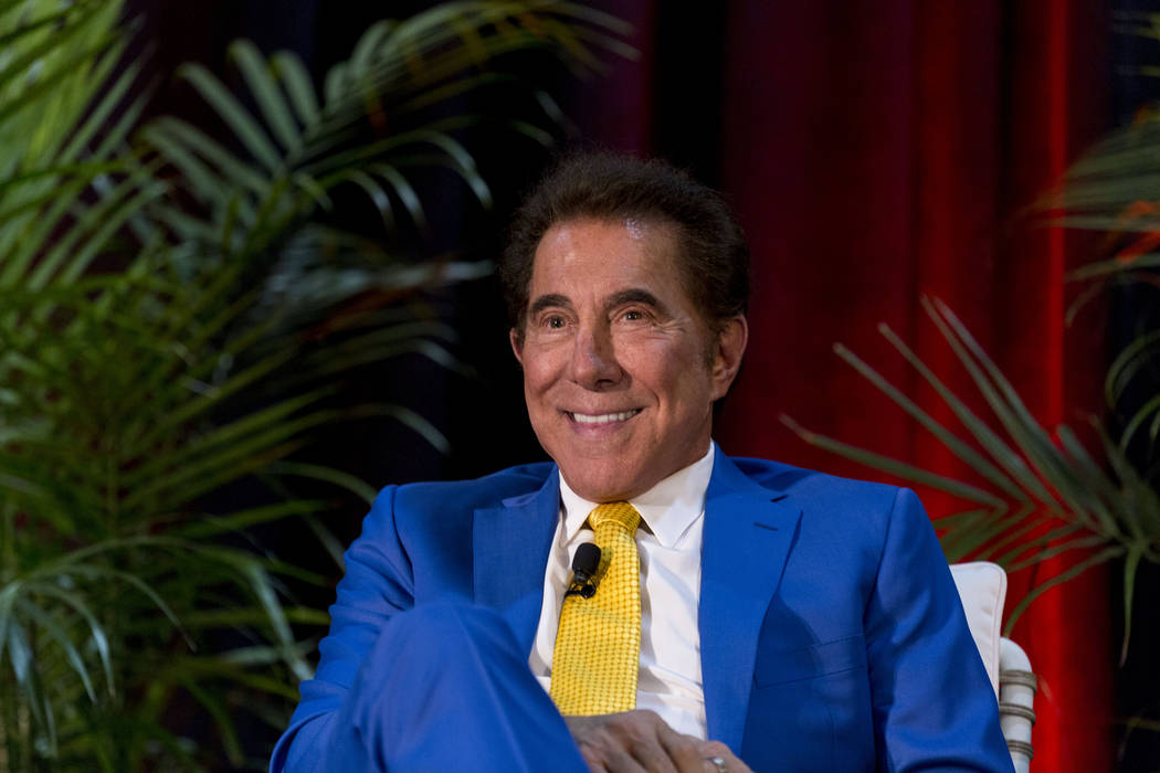 Casino resort developer Steve Wynn speaks at the Hospitality Design Exposition and Conference at the Mandalay Bay Convention Center in Las Vegas, Thursday, May 4, 2017. (Elizabeth Brumley Las Vega ...