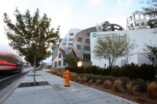 The exterior of the Cleveland Clinic Lou Ruvo Center for Brain Health in downtown Las Vegas is seen on Nov. 27, 2012. (Jessica Ebelhar/Las Vegas Review-Journal)
