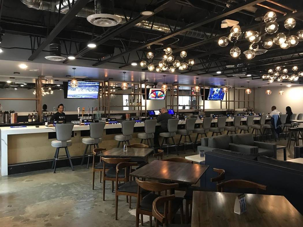 "G.O.A.T. Sports Bar on West Sahara Avenue opened in December. The bar is open 24 hours and serves alcohol and ""elevated bar food."" (Patrick Hua)"