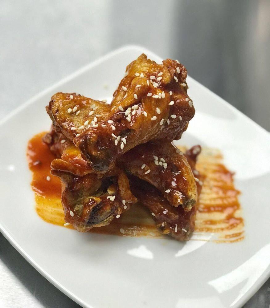 """KFC"" Korean fried chicken wings with gochujang sauce ($8) (Patrick Hua)"
