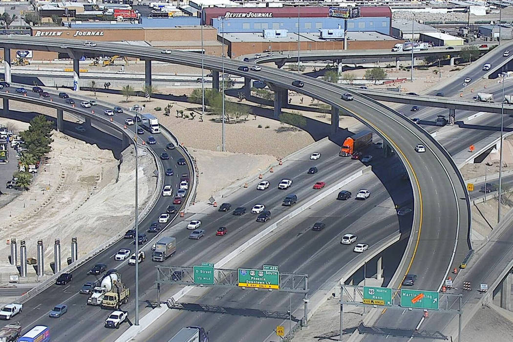 The Martin Luther King Boulevard off-ramps from northbound Interstate 15 and northbound U.S. Highway 95. (NDOT)