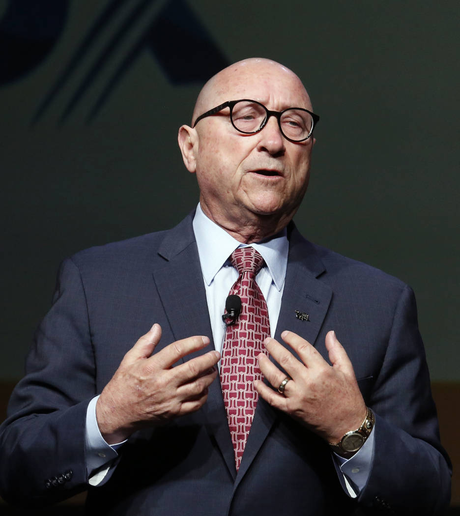 Rossi Ralenkotter, Las Vegas Convention and Visitors Authority president and CEO, speaks during Preview Las Vegas, the Las Vegas Metropolitan Chamber of Commerce's largest annual networking event, ...