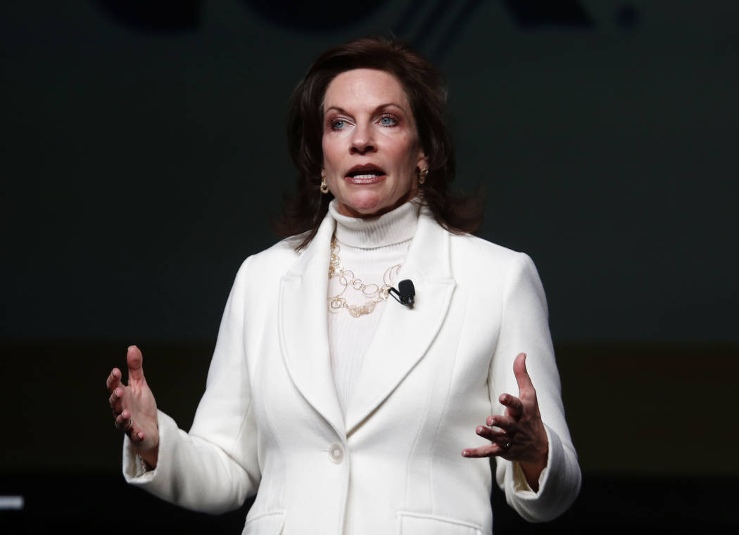 Mary Beth Sewald, president and CEO of the Las Vegas Metro Chamber of Commerce, speaks during Preview Las Vegas, the Las Vegas Metropolitan Chamber of Commerce's largest annual networking event, a ...