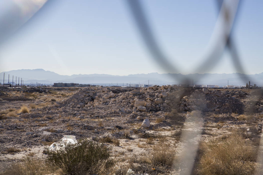 A 57-acre plot of land near the Las Vegas Motor Speedway, recently bought by Prologis, on Tuesday, Jan. 23, 2018.  (Patrick Connolly Las Vegas Review-Journal @PConnPie)