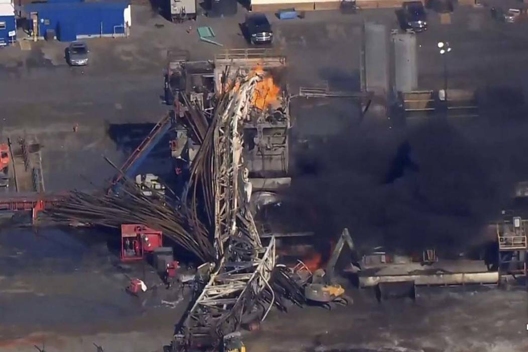 Oil drilling rig explosion in Oklahoma, 5 people missing