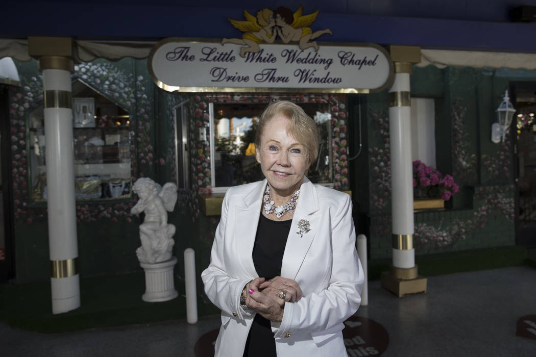 Charolette Richards, owner of A Little White Wedding, at her Las Vegas business, Wednesday, Jan. 24, 2018. Erik Verduzco Las Vegas Review-Journal @Erik_Verduzco